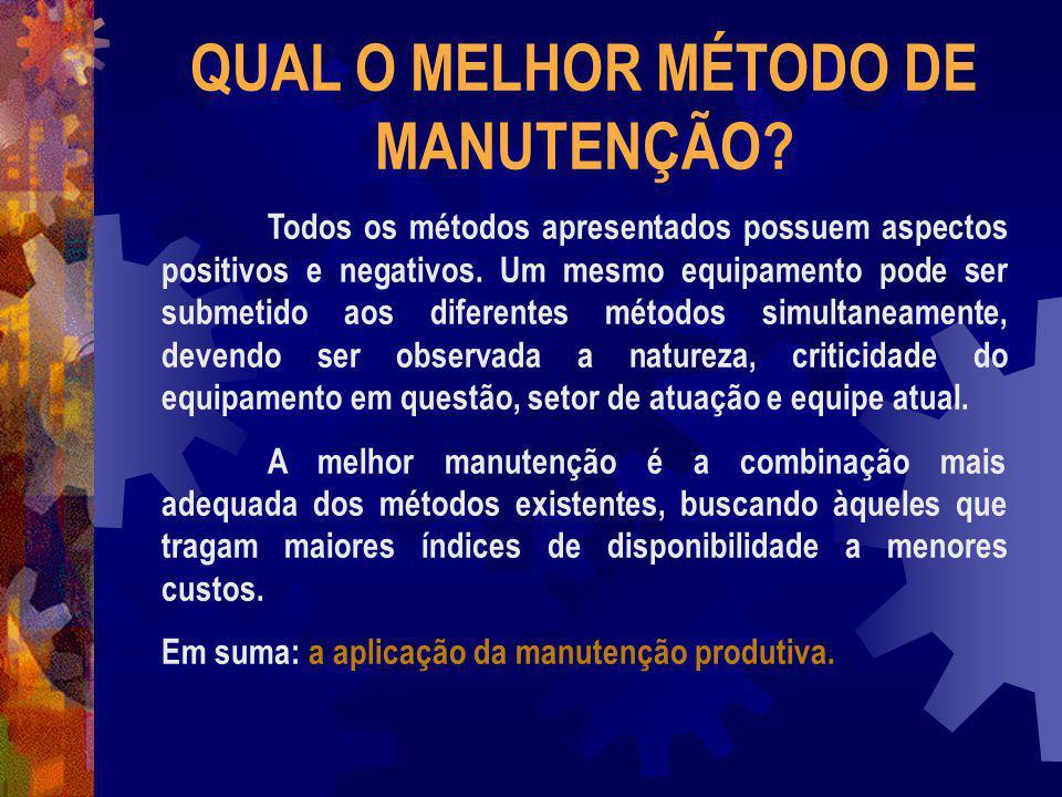 QUAL O MELHOR MÉTODO DE MANUTENÇÃO