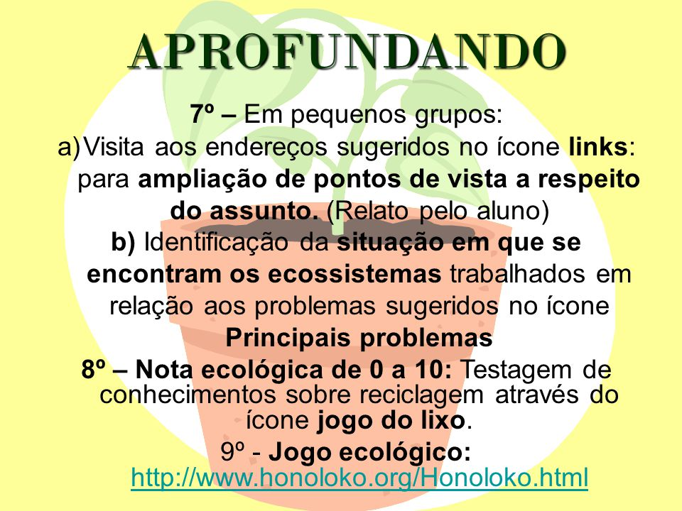 9º - Jogo ecológico: http://www.honoloko.org/Honoloko.html