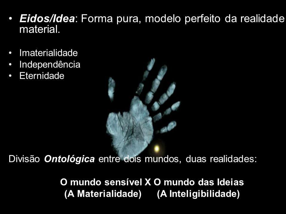 Eidos/Idea: Forma pura, modelo perfeito da realidade material.