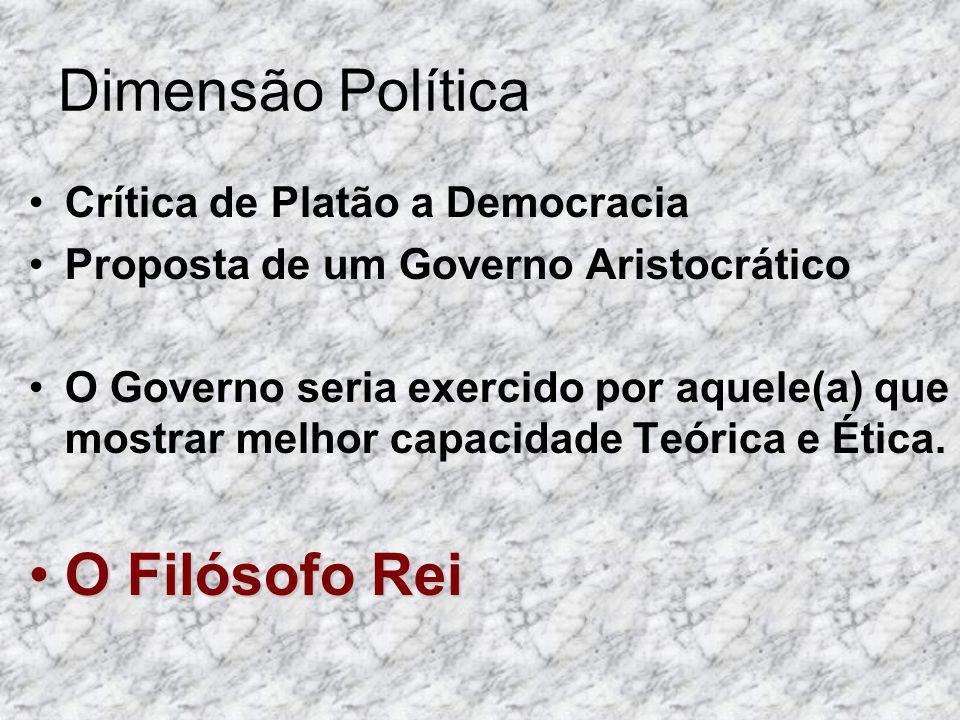 Dimensão Política O Filósofo Rei Crítica de Platão a Democracia