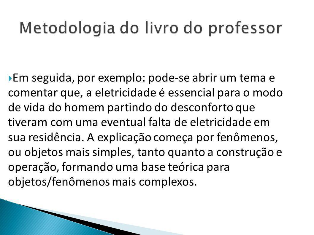 Metodologia do livro do professor