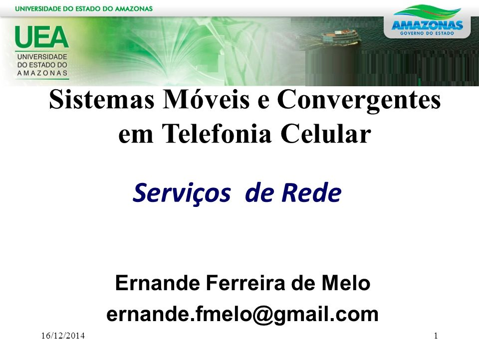 Ernande Ferreira de Melo ernande.fmelo@gmail.com
