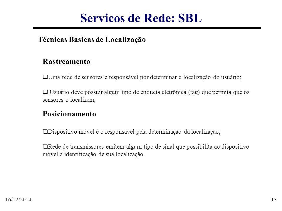 Servicos de Rede: SBL Técnicas Básicas de Localização Rastreamento