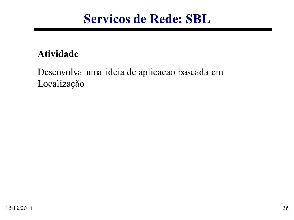 Servicos de Rede: SBL Atividade