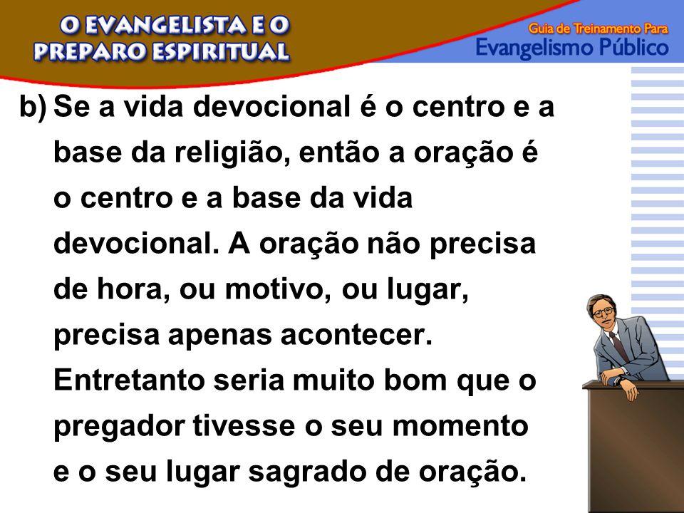 Se a vida devocional é o centro e a base da religião, então a oração é o centro e a base da vida devocional.