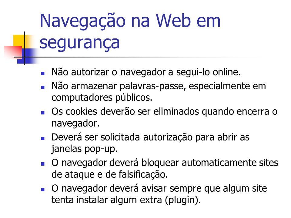 Navegação na Web em segurança