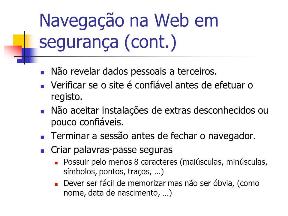Navegação na Web em segurança (cont.)