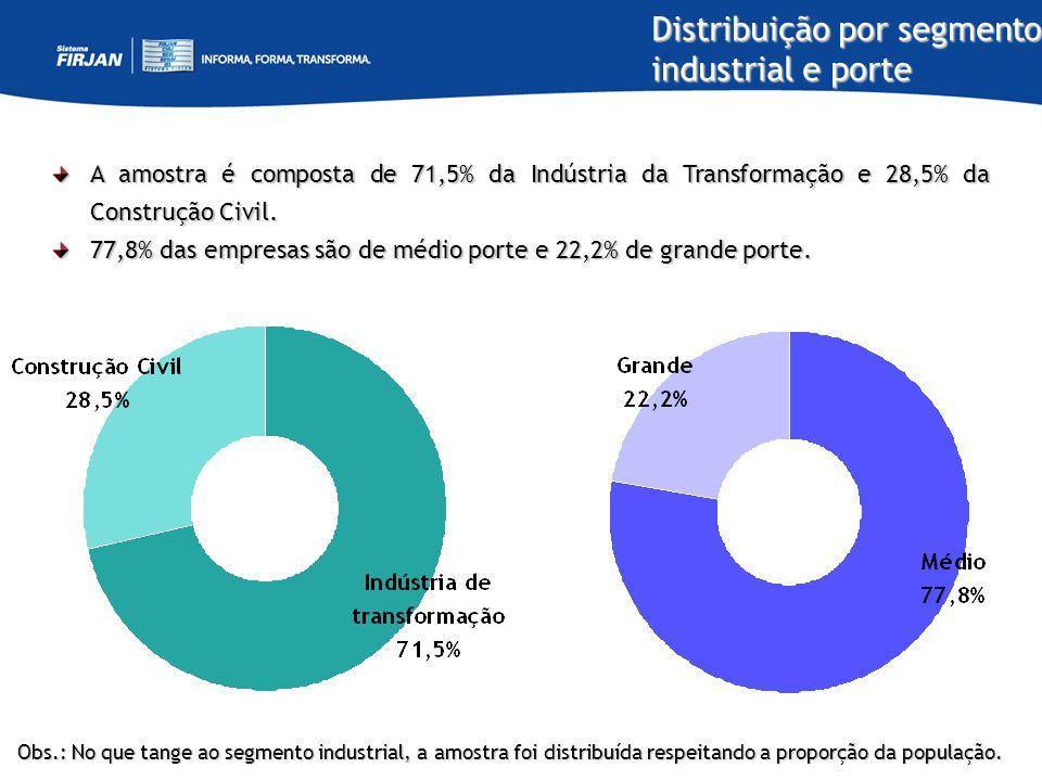 Distribuição por segmento industrial e porte