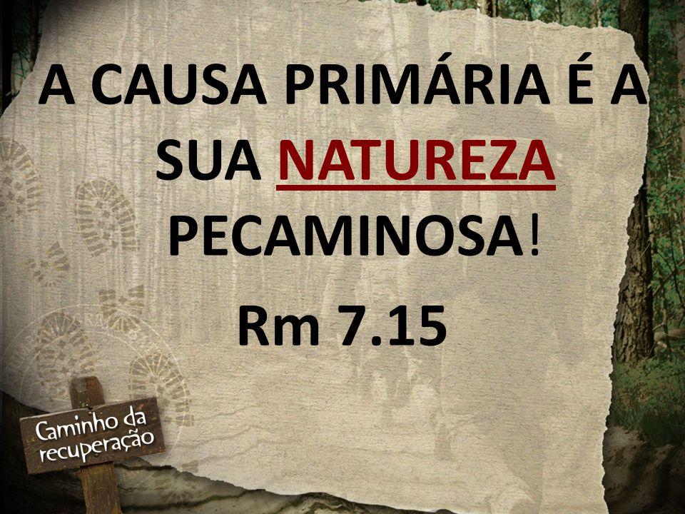 A CAUSA PRIMÁRIA É A SUA NATUREZA PECAMINOSA!
