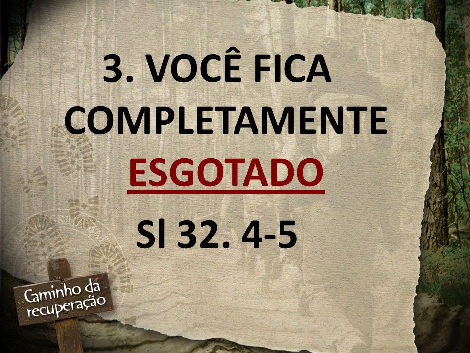3. VOCÊ FICA COMPLETAMENTE ESGOTADO