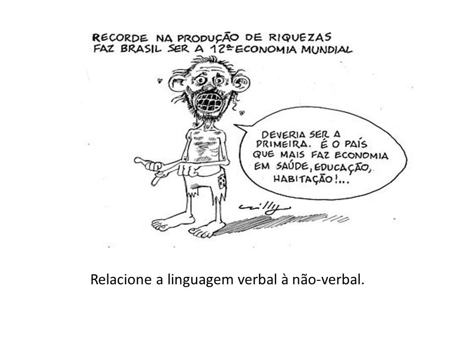Relacione a linguagem verbal à não-verbal.