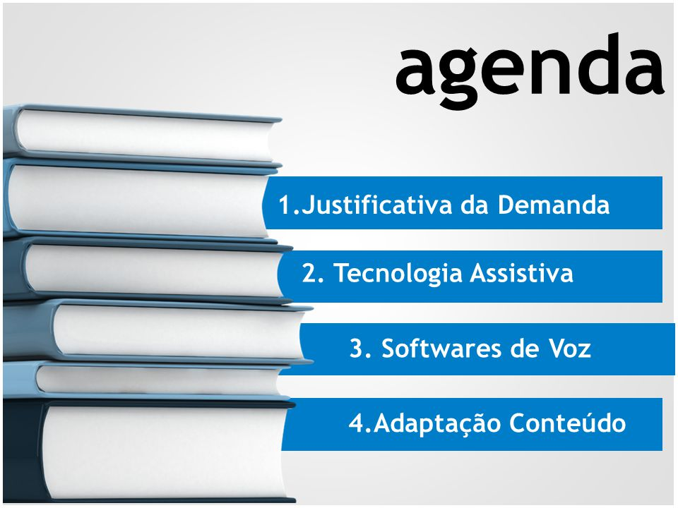 agenda 1.Justificativa da Demanda 2. Tecnologia Assistiva