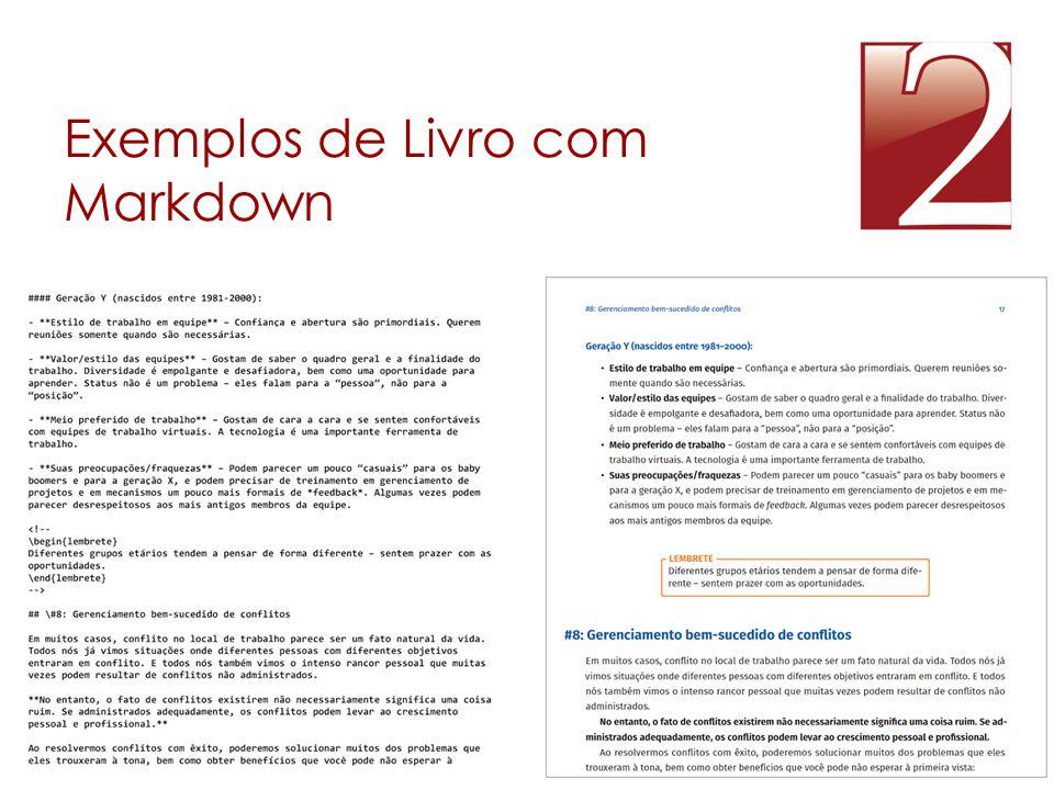Exemplos de Livro com Markdown