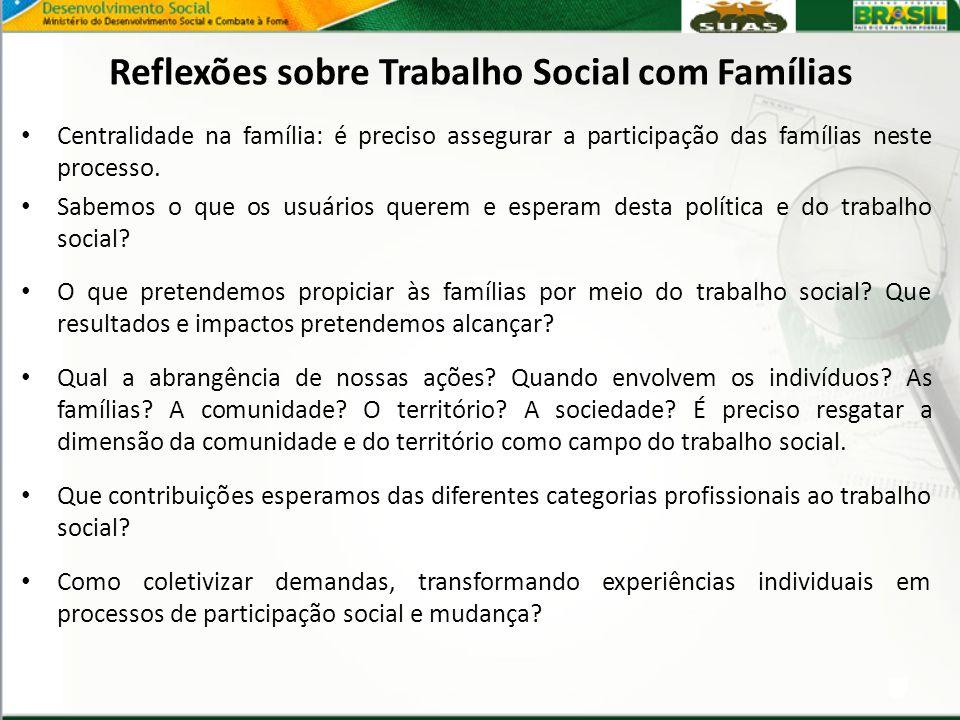 Reflexões sobre Trabalho Social com Famílias