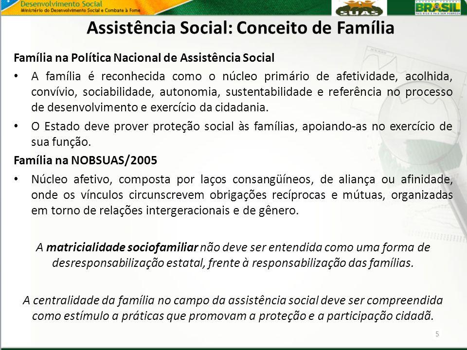 Assistência Social: Conceito de Família