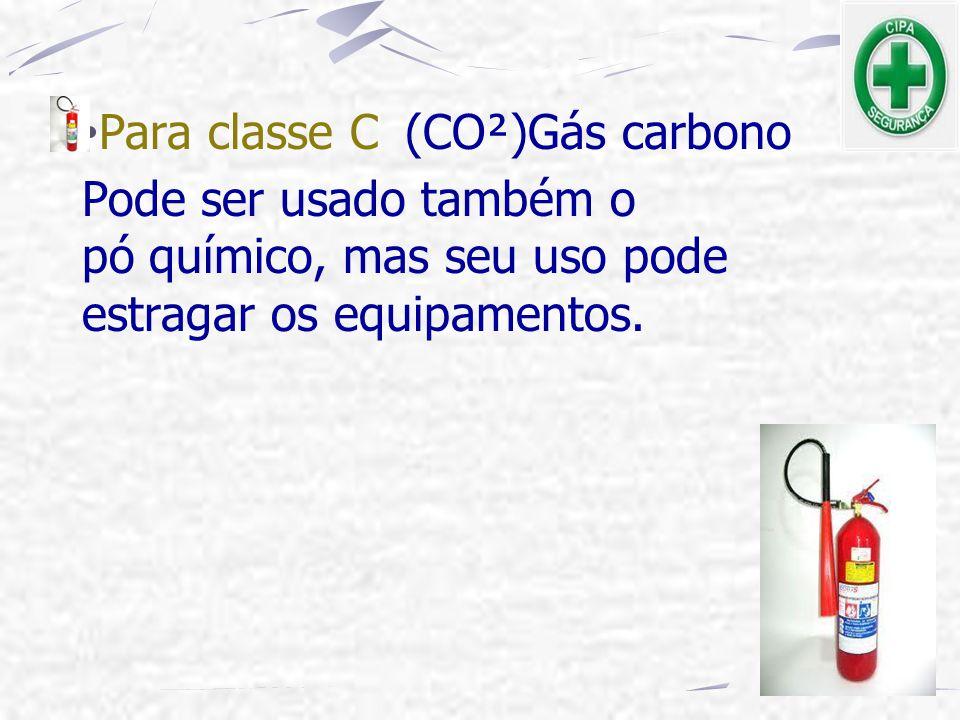 Para classe C (CO²)Gás carbono