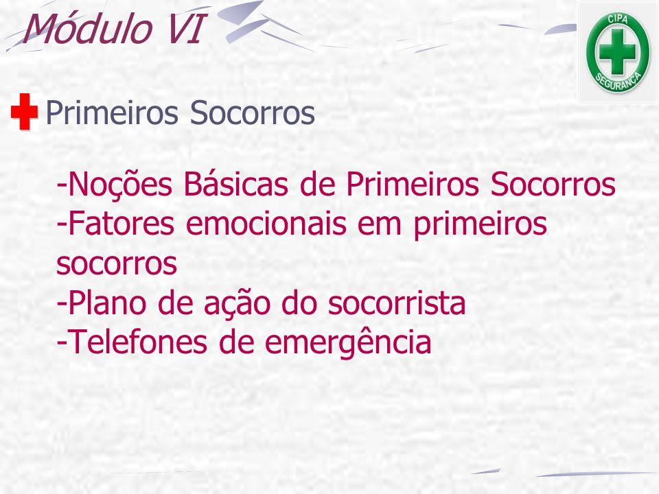 Módulo VI Primeiros Socorros -Noções Básicas de Primeiros Socorros