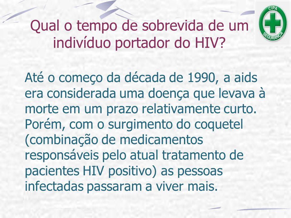Qual o tempo de sobrevida de um indivíduo portador do HIV