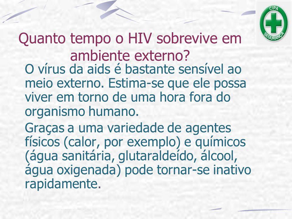 Quanto tempo o HIV sobrevive em ambiente externo