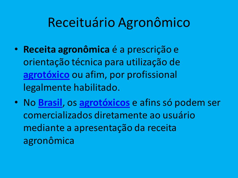 Receituário Agronômico