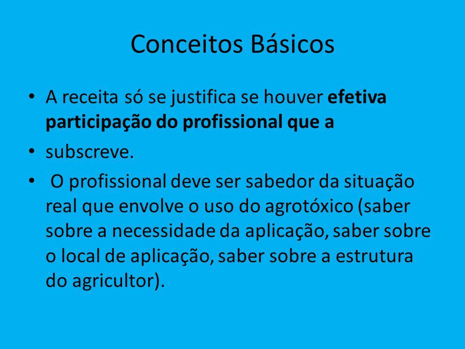 Conceitos Básicos A receita só se justifica se houver efetiva participação do profissional que a. subscreve.