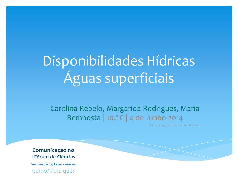 Disponibilidades Hídricas Águas superficiais