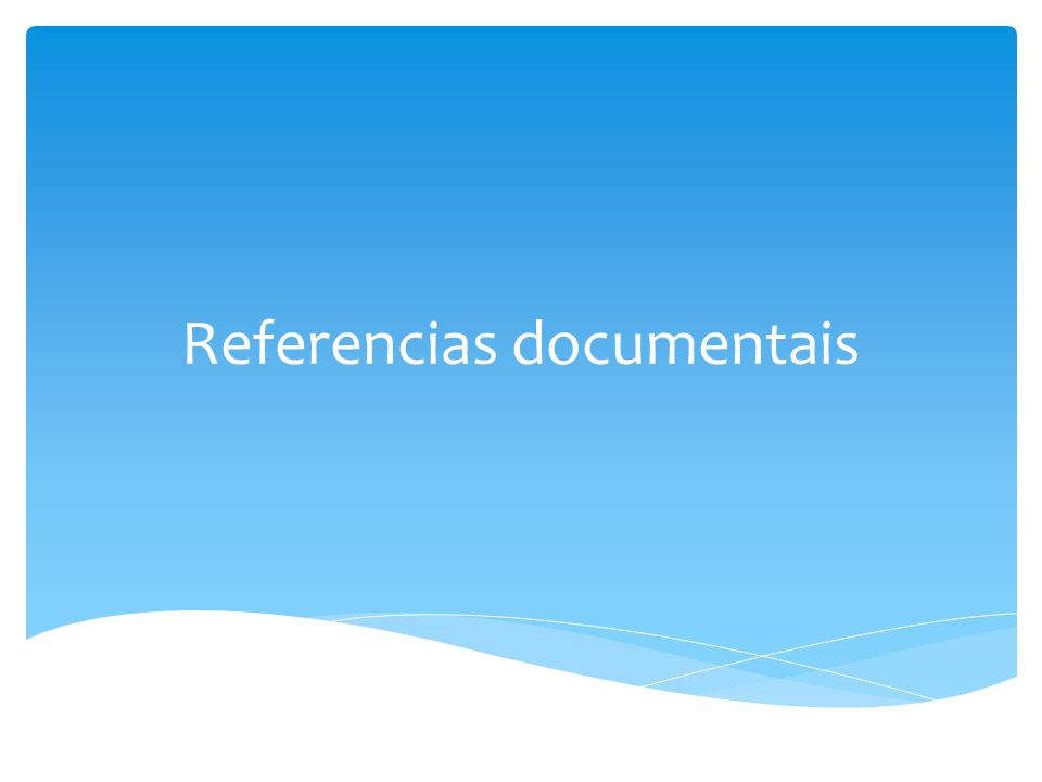 Referencias documentais