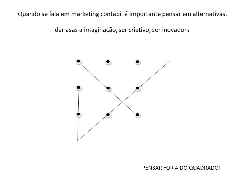 Quando se fala em marketing contábil é importante pensar em alternativas, dar asas a imaginação, ser criativo, ser inovador.