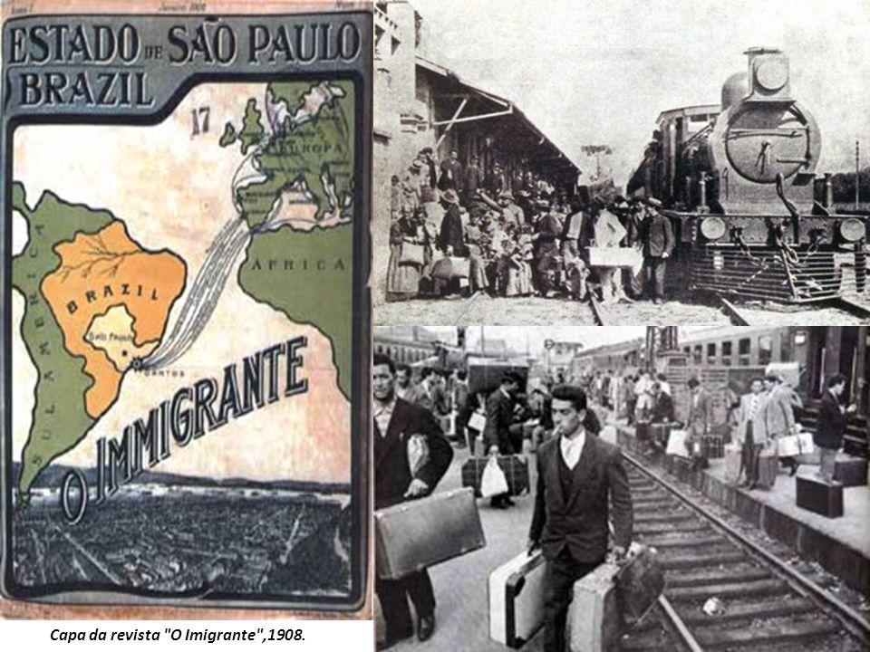 Capa da revista O Imigrante ,1908.