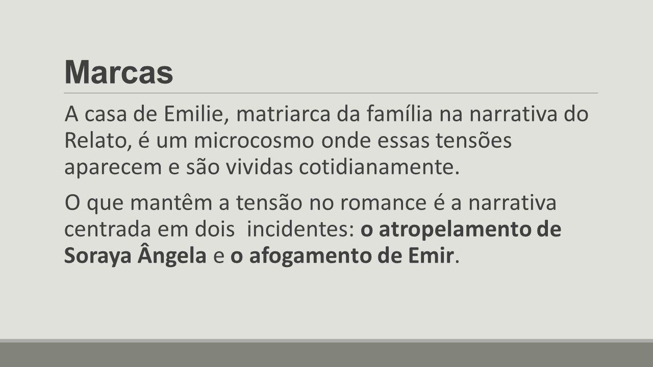 Marcas A casa de Emilie, matriarca da família na narrativa do Relato, é um microcosmo onde essas tensões aparecem e são vividas cotidianamente.