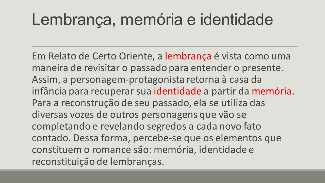 Lembrança, memória e identidade