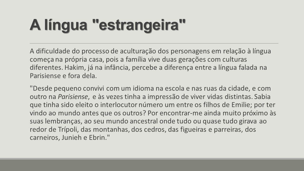 A língua estrangeira
