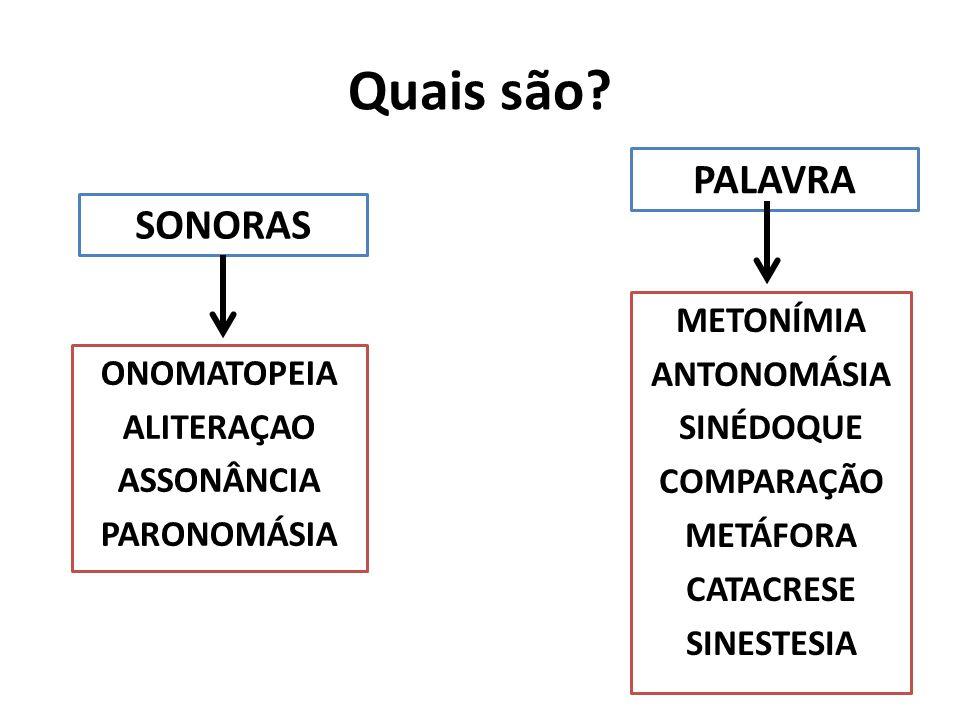ONOMATOPEIA ALITERAÇAO ASSONÂNCIA PARONOMÁSIA