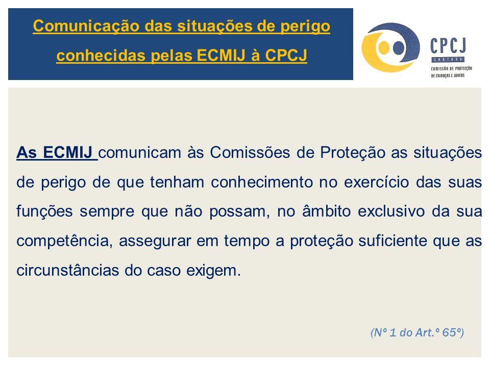 Comunicação das situações de perigo conhecidas pelas ECMIJ à CPCJ