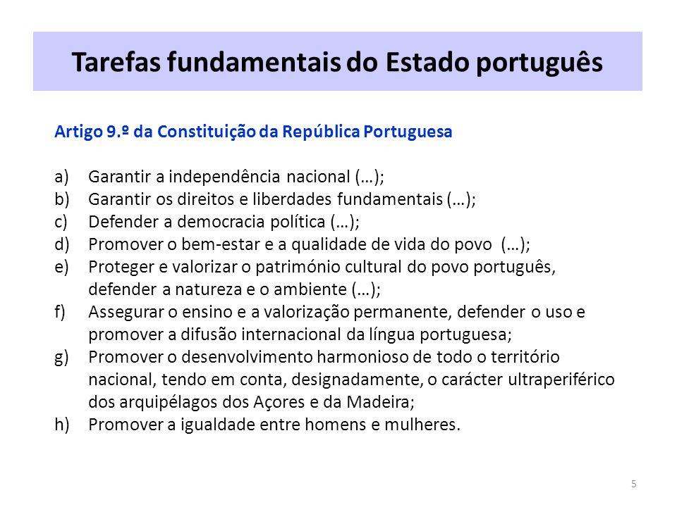 Tarefas fundamentais do Estado português