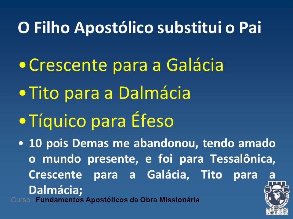 O Filho Apostólico substitui o Pai