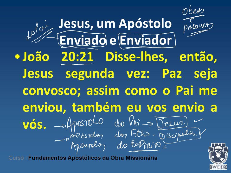 Jesus, um Apóstolo Enviado e Enviador