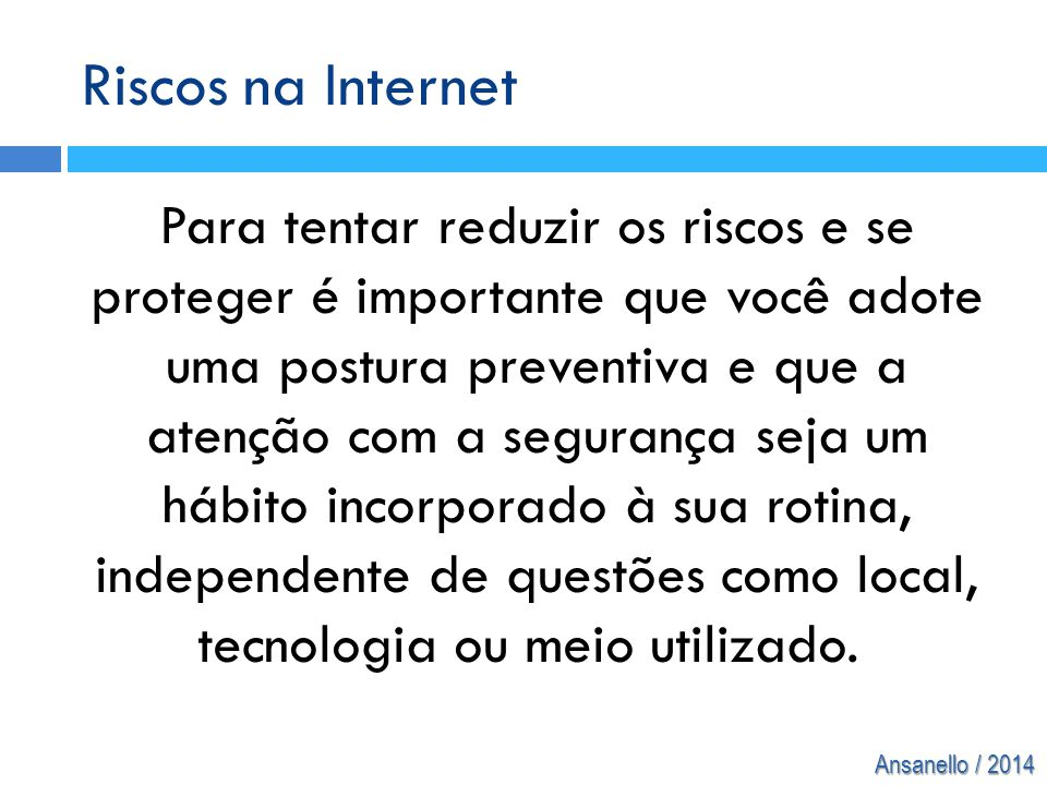 Riscos na Internet