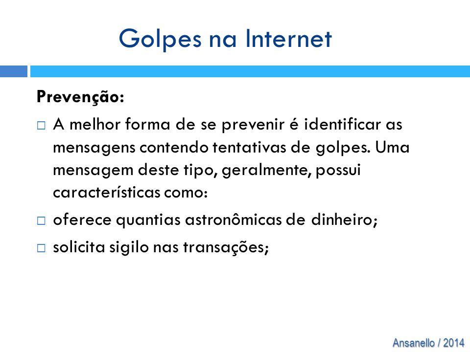 Golpes na Internet Prevenção: