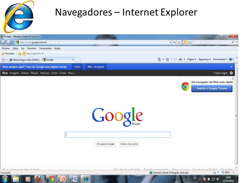 Navegadores – Internet Explorer