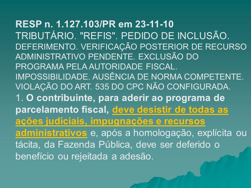 RESP n. 1.127.103/PR em 23-11-10