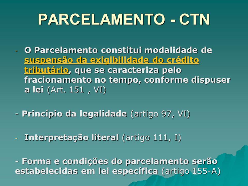 PARCELAMENTO - CTN