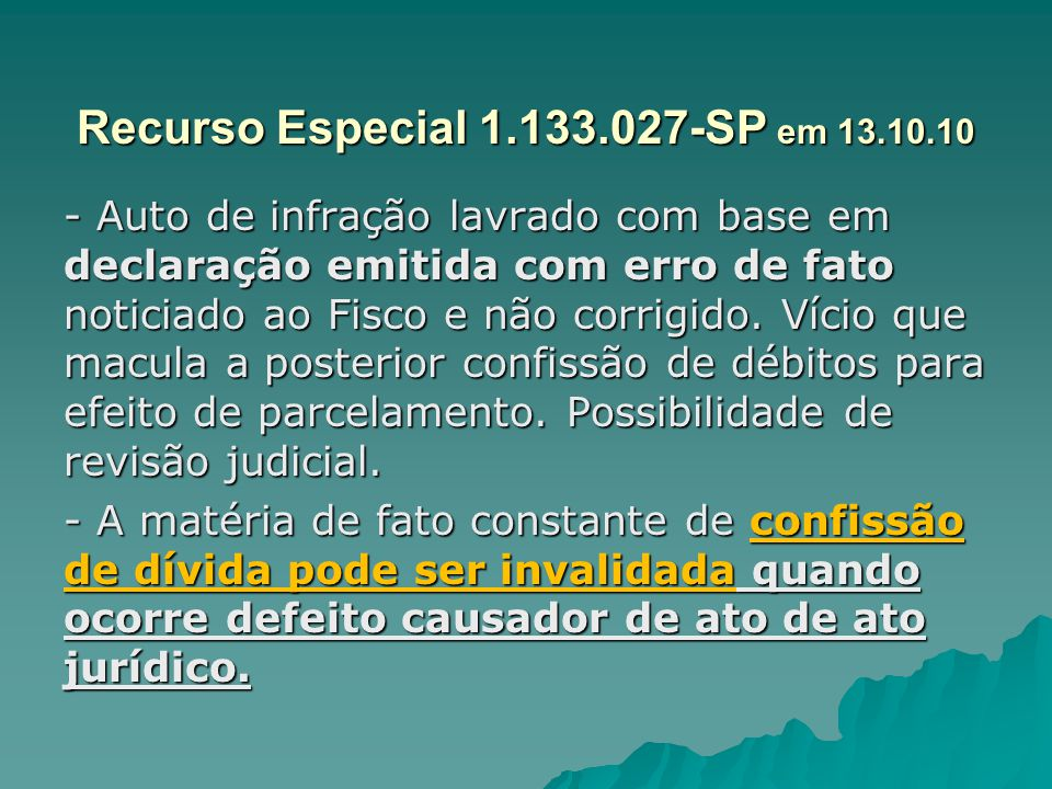 Recurso Especial 1.133.027-SP em 13.10.10