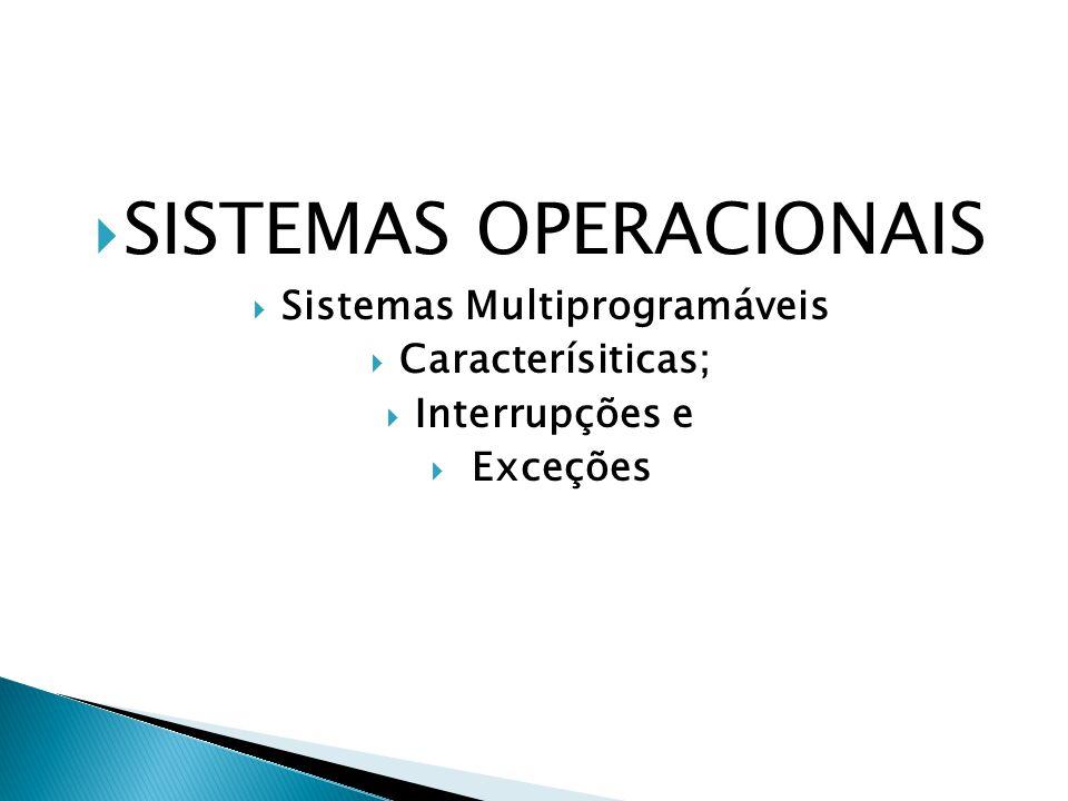 Sistemas Multiprogramáveis