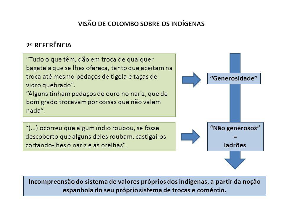 VISÃO DE COLOMBO SOBRE OS INDÍGENAS