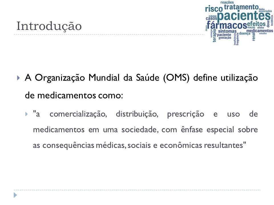 Introdução A Organização Mundial da Saúde (OMS) define utilização de medicamentos como: