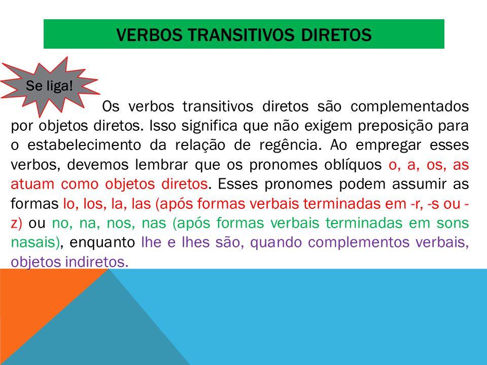 Verbos transitivos diretos