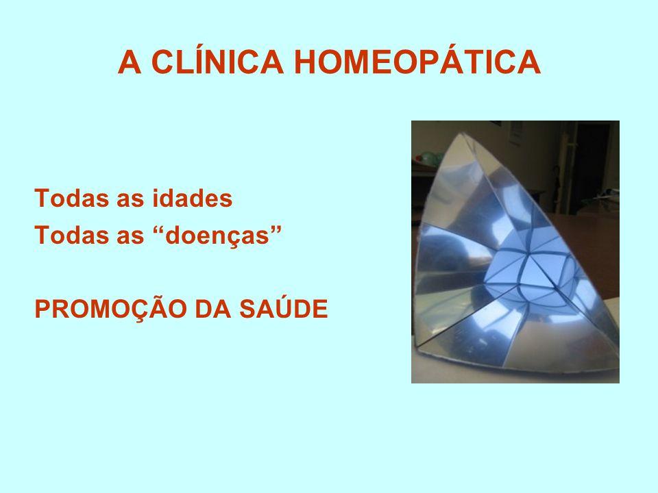 A CLÍNICA HOMEOPÁTICA Todas as idades Todas as doenças