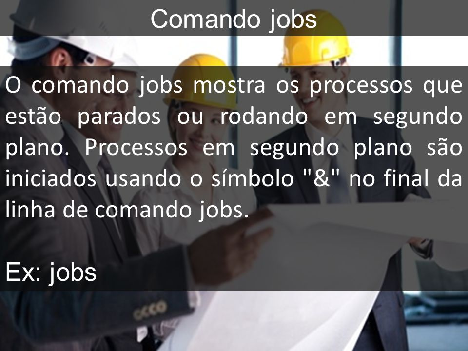 Comando jobs