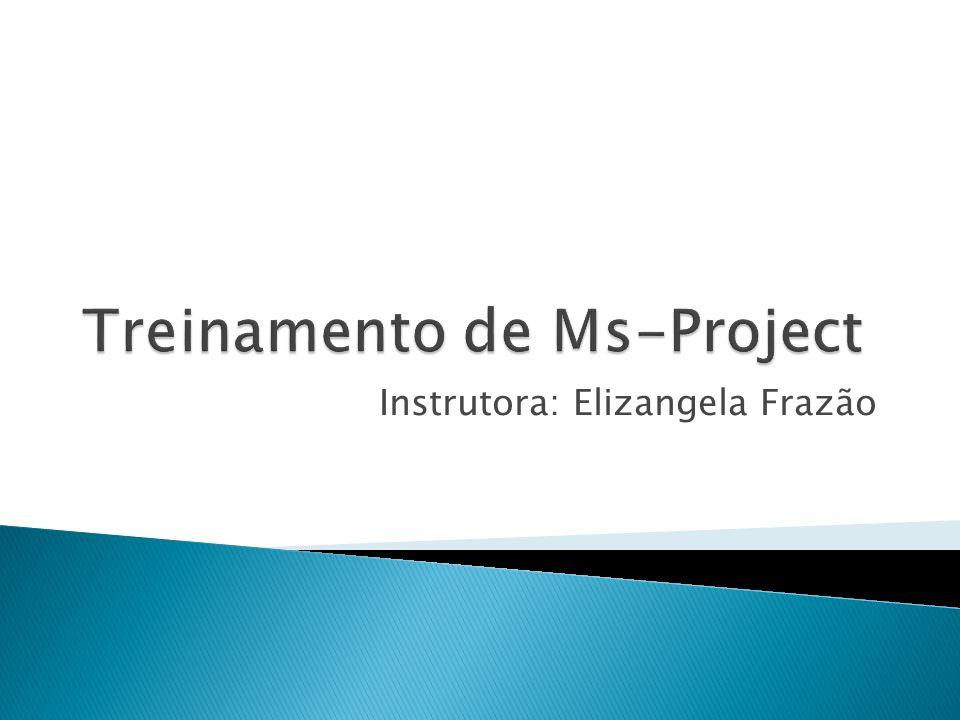 Treinamento de Ms-Project